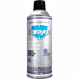 Sprayon WL740 Zinc Rich Galvanizing Compound, 14 oz. Aerosol Can - SC0740000 - Pkg Qty 12