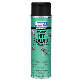 Sprayon Hit Squad Industrial Insecticide, 11.75 oz. Aerosol Spray, 12 Cans - S00859 - Pkg Qty 12