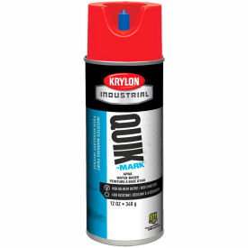 Krylon Industrial Quik-Mark Wb Inverted Marking Paint Apwa Brilliant Red - A03404004 - Pkg Qty 12