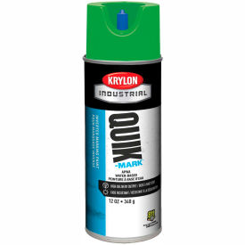 Krylon Industrial Quik-Mark Wb Inverted Marking Paint Apwa Brilliant Green - A03407004 - Pkg Qty 12