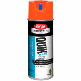 Krylon Industrial Quik-Mark Wb Inverted Marking Paint Fluor. Red/Orange - A03410004 - Pkg Qty 12