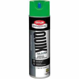 Krylon Industrial Quik-Mark Sb Inverted Marking Paint Fluor. Neon Green - A03614007 - Pkg Qty 12