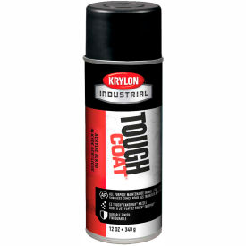 Krylon Industrial Tough Coat Acrylic Enamel Semi-Flat Black - A03725007 - Pkg Qty 12