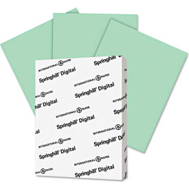 """Springhill® Digital Index Color Card Stock 45100, 8-1/2"""" x 11"""", Green, 250/Pack"""
