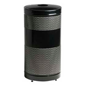 """Can And Bottle Recycling Container, Black, 25 gal., 18""""Dia x 35.5""""H"""