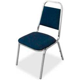 "Lorell® All Purpose Stacking Chair, 120 Chairs, 26""W x 28""D x 34-3/8""H, Blue Fabric, 4/PK - Pkg Qty 30"