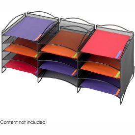 Safco® Desktop Organizer with 12 Compartments & Connector Clips Black