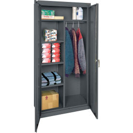 "Sandusky Classic Combination Storage Cabinet CAC1362472-02 - 36""W x 24""D x 72""H Charcoal"