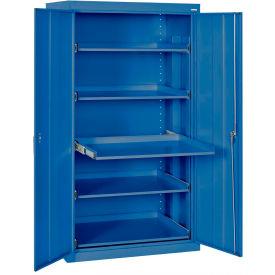 Sandusky Pull-Out Tray Shelf Storage Cabinet ET52362466 - 36x24x66, Blue