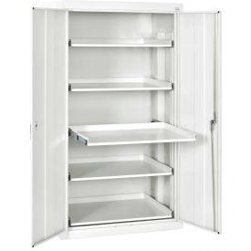 Sandusky Pull-Out Tray Shelf Storage Cabinet ET52362466 - 36x24x66, Standard White