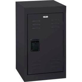 """Sandusky Welded Steel Color Lockers LF1B151524-09 - 15""""W x 15""""D x 24""""H Black"""
