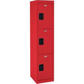 """Sandusky Welded Steel Color Lockers LF3B151866-01 - 15""""W x 18""""D x 66""""H Red"""