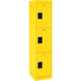 """Sandusky Welded Steel Color Lockers LF3B151866-EY - 15""""W x 18""""D x 66""""H Yellow"""