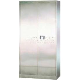 "Sandusky Stainless Steel Storage Cabinet SA4D361872 - 36""W x 18""D x 72""H"