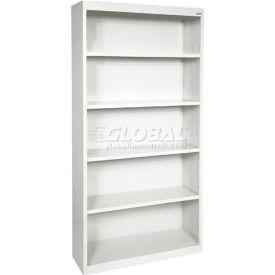 "Steel Bookcase 4-Shelf 46W X 18""D X 72""H-White"
