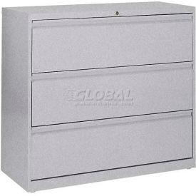 "Lateral File, 3-Drawer, 36W"" x 19-1/4D"" x 40-7/8H"", Multi Granite"