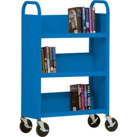 Sandusky® SL327 3-Shelf Single Sided Mobile Utility Truck 27x13 - Blue