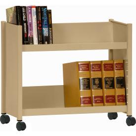Sandusky® SR227 Single-Side Slanted 2 Shelf Book Cart 28 x 13 - Tropic Sand
