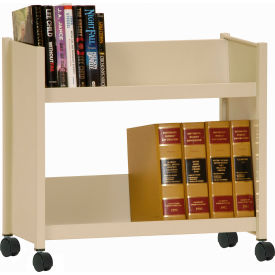 Sandusky® SR227 Single-Side Slanted 2 Shelf Book Cart 28 x 13 - Putty