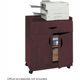 Safco® 1852MH Deluxe Mobile Machine Stand - Mahogany