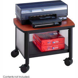 Safco® Products 1862BL Impromptu® Under Table Printer Stand, Cherry/Black