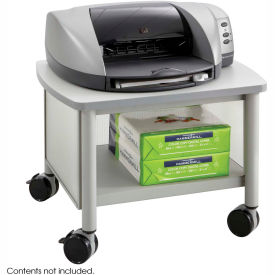 Safco® Products 1862GR Impromptu® Under Table Printer Stand, Gray/Black