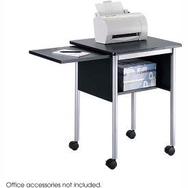 Safco® 1873BL Machine Stand with Slide-Away Shelf