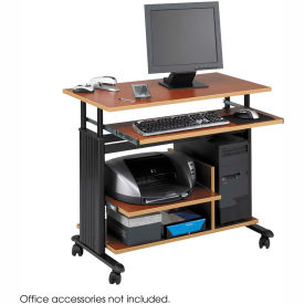 Safco® 1927CY Muv™ Mini Tower Adjustable Height Workstation - Cherry