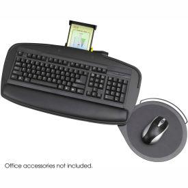 Safco® 2143BL Premier Series Keyboard Platform with Mouse Platform, Black