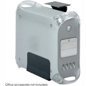 Safco® 2176 Ergo-Comfort® Fixed Mount CPU Holder, 60 lbs. Capacity, Black