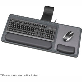 Safco® 2196 Ergo-Comfort Sit/Stand Articulating Keyboard Arm, Black