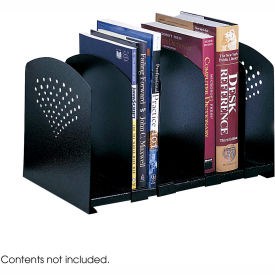 Five Section Adjustable Book Rack Black by