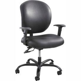 Safco® Alday™ 24/7 Task Chair, Black Vinyl