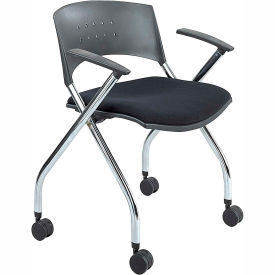 Safco Mobile Nesting Chair (Qty. 2) - Black Fabric