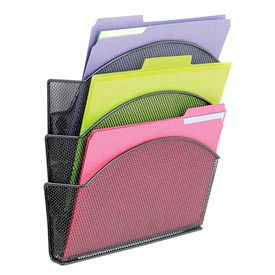 Magnetic Mesh Triple File Pocket (Qty. 6)