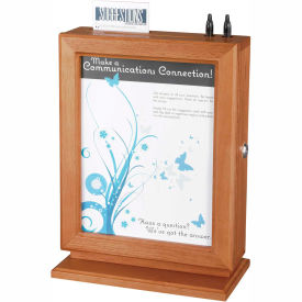 Customizable Wood Suggestion Box Cherry