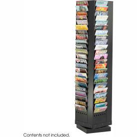 92 Pocket Steel Rotary Magazine Rack - Black