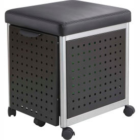 Safco® Scoot™ 5380 Black Mobile Filing Station with Cushioned Seat