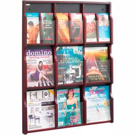 Expose 9 Magazine 18 Pamphlet Display - Mahogany/Black