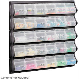Safco 6111BL 30 Pocket Panel Bins - Black