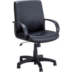 Safco® Poise® Executive Mid Back Chair - Black Vinyl
