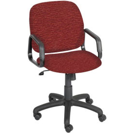 Cava Urth High Back Chair, Burgundy Fabric