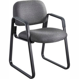 Cava Urth Sled Base Guest Chair, Black Fabric