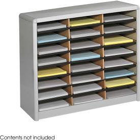 24 Compartment Economy Literature Organizer Gray by