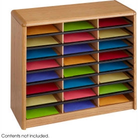 24 Compartment Economy Literature Organizer Medium Oak by