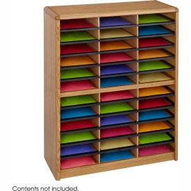 36 Compartment Economy Literature Organizer Medium Oak by