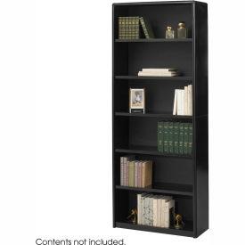 6-Shelf Economy Bookcase - Black