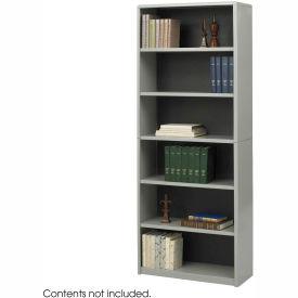 6-Shelf Economy Bookcase - Gray