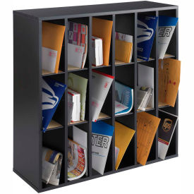 Wood 18-Compartment Mail Sorter