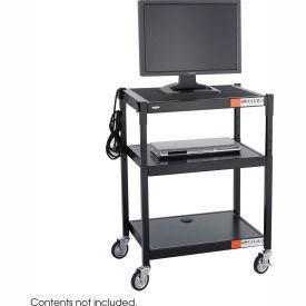 Safco® Steel Adjustable Height AV Cart